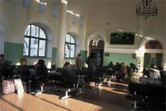 ウラジオストク駅の待合室