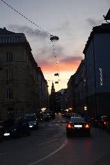 ザルツブルグ市内の夕暮れ