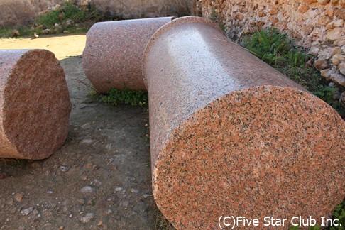 エジプトからのピンク色の柱